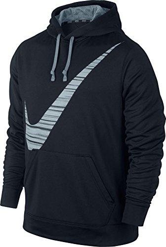Nike KO Blur Swoosh Hoodie - XX-Large - Black/Magnet Grey
