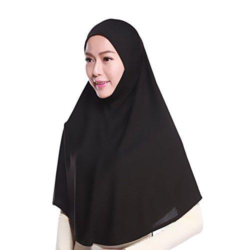 Daxin Muslim Hijab Amira Islamic Solid Soft Scarf Long Hejab Head Shawls