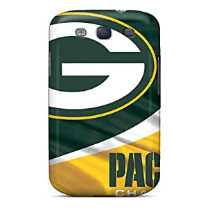 KimberleyBoyes Samsung Galaxy S3 Shock Absorption Hard Phone Case Support Personal Customs Colorful Green Bay Packers Image [pgw17042VmSc]