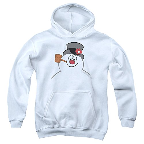 Frosty the Snowman Frosty Face Unisex Youth Pull-Over Hoodie for Boys and Girls ()