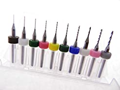 10 pack .10mm to 1.0mm Micro Drill Bits ...