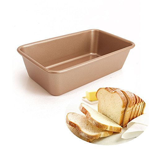Loaf Tin 10 inch 2 pounds Nonstick Bread Pan Gold by LUFEIYA