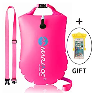 GKCI Swim Buoy Swim Safety Float and Drybag Highly Visible Swim Bubble for Open Water Sea Swimmers Triathletes