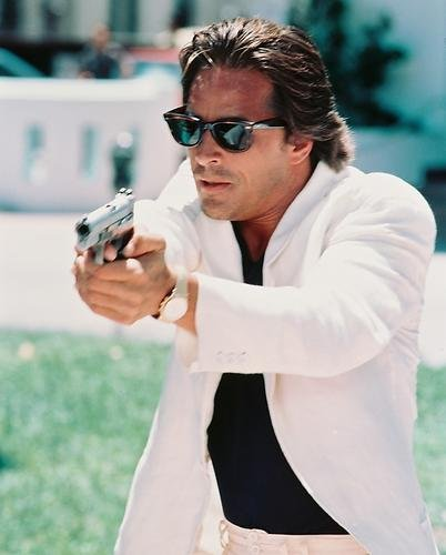 Don Johnson Miami Vice Sunglasses & Gun 8x10 HD Aluminum Wall - Johnson Sunglasses Don