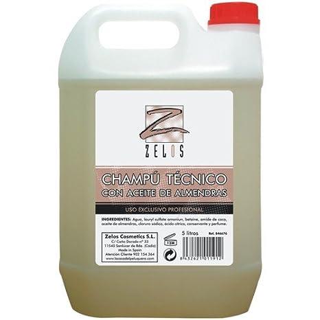 Champú Técnico con Aceite de Almendras Amargas - Garrafa 5 Litros - Proporciona Brillo y Nutrición
