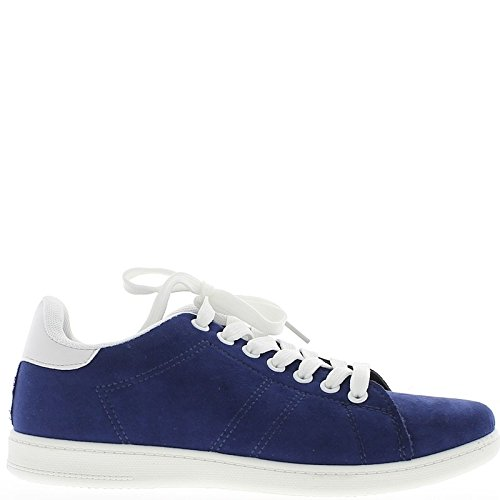Mujeres delgadas azul y blanco suela tenis
