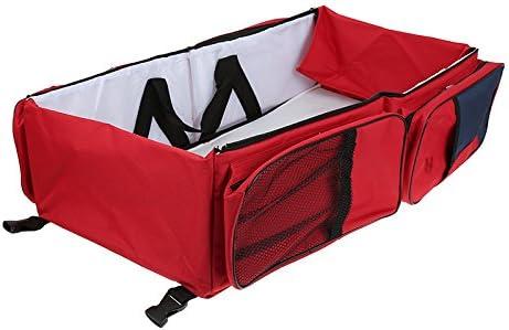Rouge Portable Sac /à Langer 3 en 1 Shopping Sac de Voyage pour Maman Pliable Pique-nique Baby Travel Sac Taupe pour le Voyage