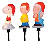 "Product Works 10316 ""Peanuts"" 3D Blow Molded Pathway Lights with Charlie Brown, Snoopy and Linus 8"""