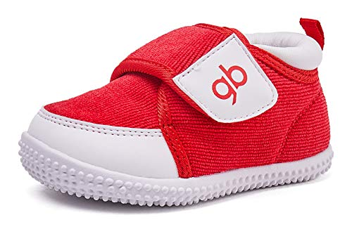 BMCiTYBM Baby Shoes Boy Girl Infant Sneakers Winter Warm Non Slip First Walkers 6 9 12 18 24 Months Red Size 4