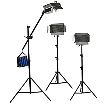 ePhoto 3 x 500 LED Video Photo Boom Stand Lighting Studio Photography Light Kit by ePhotoInc  sc 1 st  Amazon.com & Amazon.com : ePhoto 3 x 500 LED Video Photo Boom Stand Lighting ... azcodes.com