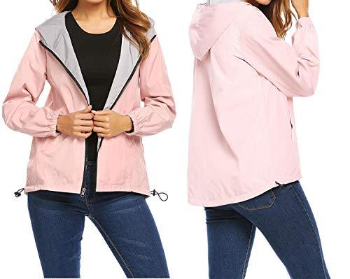 A Moda Manica Inverno Lunga Con Due Da Maniche Giacche Rilievo Lati Autunno Auspiciousi Lunghe Cappuccio Pink In Donna Cappotto FwXxf6qf