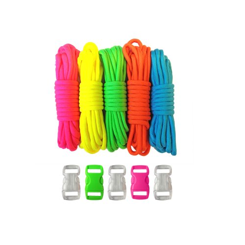 Paracord Planet 550lb Type III Paracord Combo Crafting Kits with FREE Buckles For Friendship Bracelets and Craft Beginners