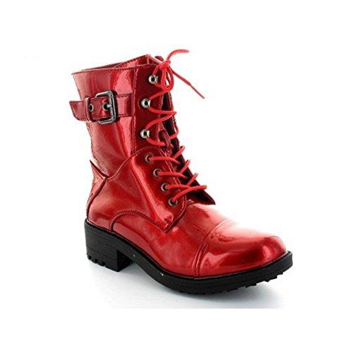 Botines, diseño de laca de uñas roja Stone P tites Bombes, Rojo (