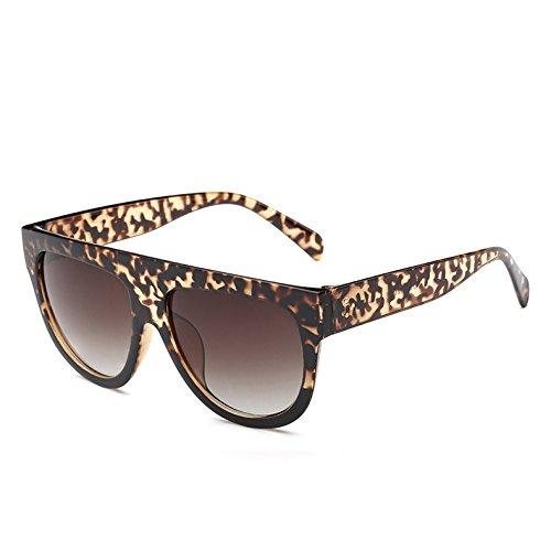 Vintage Sol Gafas Uv Tonos Hombre Viajes Leopardblack362 De De 9 Frame LeopardBlack Gafas Gradiente Enormes Bastidor Mujer 9 TIANLIANG04 Unas Sol G wqSvv0