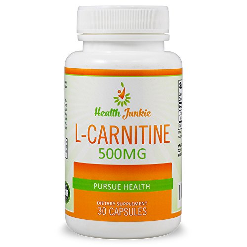Health Junkie L-Carnitine - 30 Count 500mg Capsules