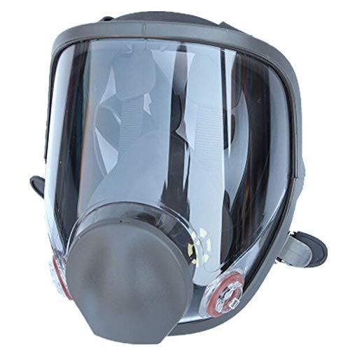 SOUFORCE Wide Field of View Full Face Dust/Gas Mask, Silicone Full Facepiece Respirator for Protection From Chemicals Harm Spraying Painting