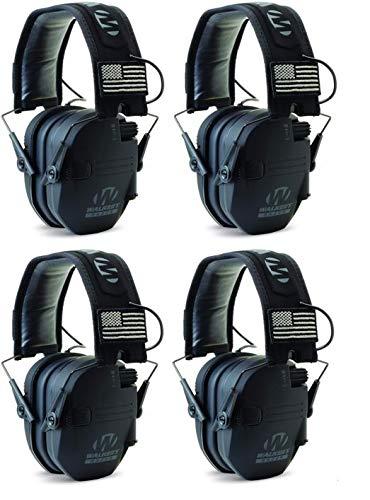 Walkers GWPRSEMPAT Razor Patriot Electronic Earmuff 23 dB Black - 4 Pack by Walker's Game Ear