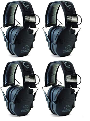 Walkers GWPRSEMPAT Razor Patriot Electronic Earmuff 23 dB Black - 4 Pack