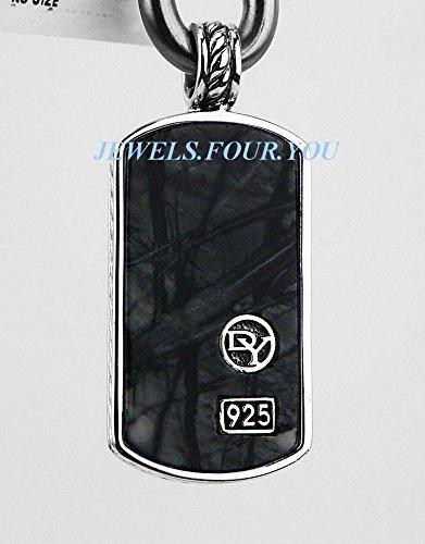 david-yurman-stsilver-large-picasso-jasper-necklace-dog-tag-no-chain-437-new
