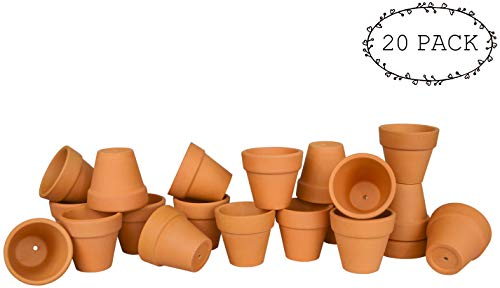 My Urban Crafts 2'' Mini Terracotta Clay Pots - Great for Succulent & Cactus Nursery Planter, DIY Craft Projects, Wedding and Party Favors (Set of 20) by My Urban Crafts (Image #1)