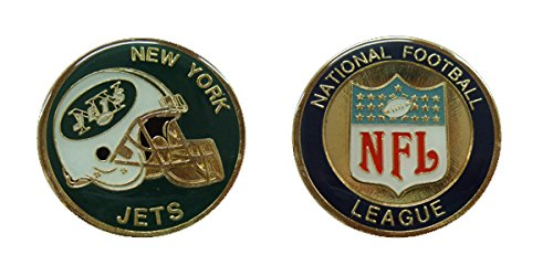 - Collectible Challenge Coin- Logo Poker- Lucky Chip for Jets