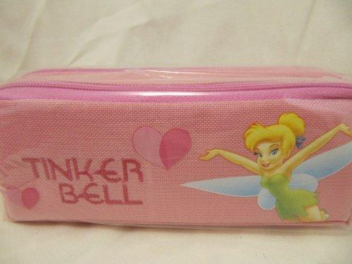 Disney Tinkerbell Pink 2 Zipper Pencil Case Storage Holder