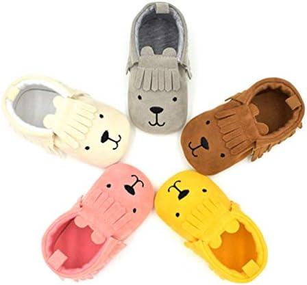 赤ちゃん靴 ベビーシューズ 男の子靴 女の子靴 子供靴 トレーニングシューズ ルームシューズ クマ 萌え 滑り止め 歩きやすい 快適 耐磨 室内履き 出かけ 0-2歳 11-13cm