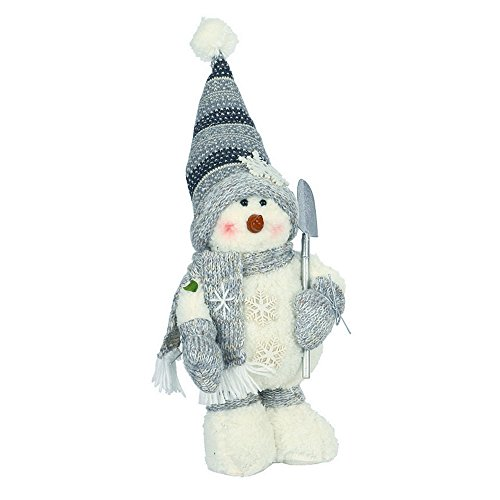 Christmas Shop Standing Snowman Decoration (One Size) (Snowman (Plush Standing Snowman)