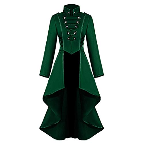 Onefa Women's Gothic Steampunk Corset Halloween Costume Coat Vintage Jacket Suit Coat Halloween Tops