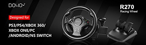 Price comparison product image DOYO 270 Degree Rotation Pro Sport Racing Wheel for PS3 / PS4 / XBOX ONE / XBOX360