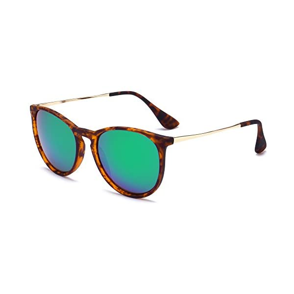 SUNGAIT Vintage Round Sunglasses for Women Erika Retro Style