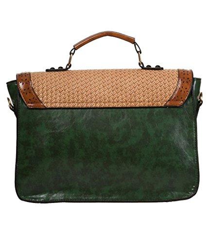 Tonky' Satchel Leather Banned Vintage Shoulder Apparel Bag Faux 'Honky Green q4xxC6EvH