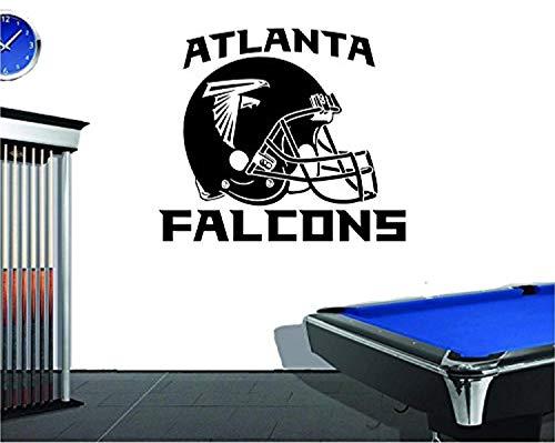 Atlanta Falcons Helmet Wall - Wall Vinyl Decal Atlanta Falcons Helmet Emblem Football Team Logo Sport Interior Vinyl Decor Sticker Home Art Print TT9805
