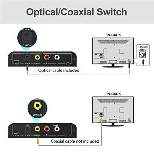 Digital Konverter optisch Koaxial 192kHz Aluminium DAC Toslink zu Analog Stereo