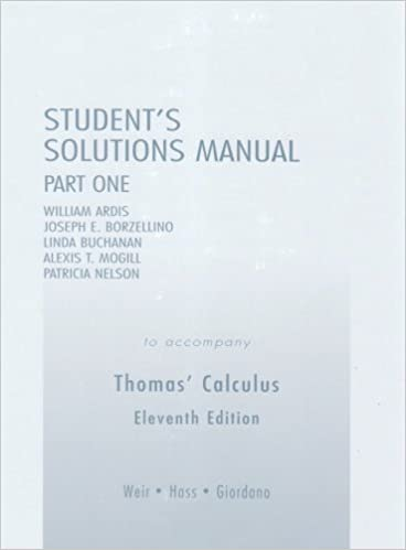 Student solutions manual part 1 for thomas calculus pt 1 george student solutions manual part 1 for thomas calculus pt 1 11th edition fandeluxe Choice Image