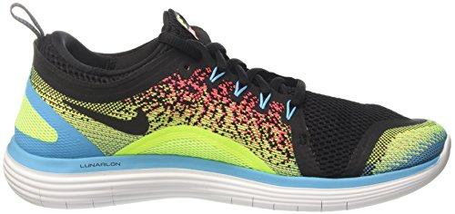 Nike Mens Gratis Rn Afstand 2 Heren Hardloopschoenen Volt / Zwart-heet Punch-chloorblauw