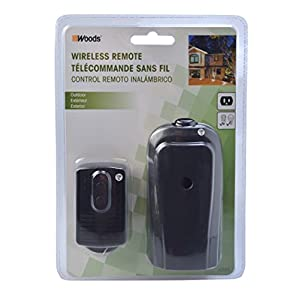 Woods 32555WD Weatherproof Outdoor Outlet Remote Control Converter Kit