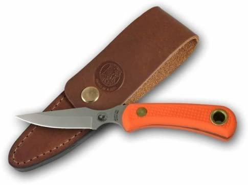 Knives Of Alaska Cub Bear SureGrip Handle Caping Knife, Orange