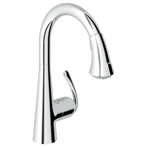 Ladylux Caf Single Handle Centerset Vessel Pull-Down Kitchen Faucet Finish Starlight Chrome