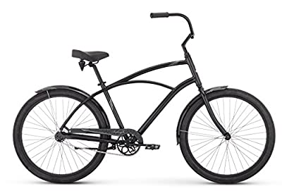 "Raleigh Bikes Men's Retroglide Cruiser Bike, 24""/One Size, Black"