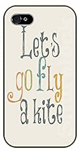 iPhone 5 / 5s Let's go fly a kite - black plastic case / Walt Disney And Life Quotes