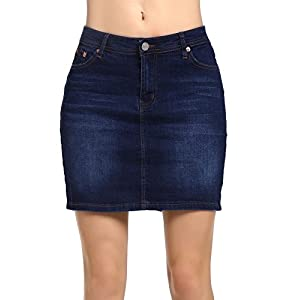 Beluring Womens Denim Jean Mini Skirt