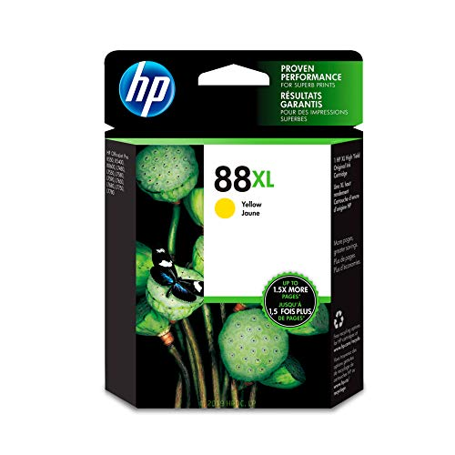 (HP 88XL Yellow Ink Cartridge (C9393AN) for HP Officejet Pro K5400 K550 K8600 L7580 L7590 L7680 L7780)