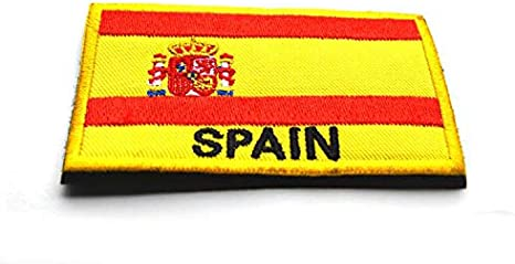 Parche Bordado con la Bandera de España para Airsoft, Paintball, Cosplay, Spain, 80mm x 50mm: Amazon.es: Deportes y aire libre