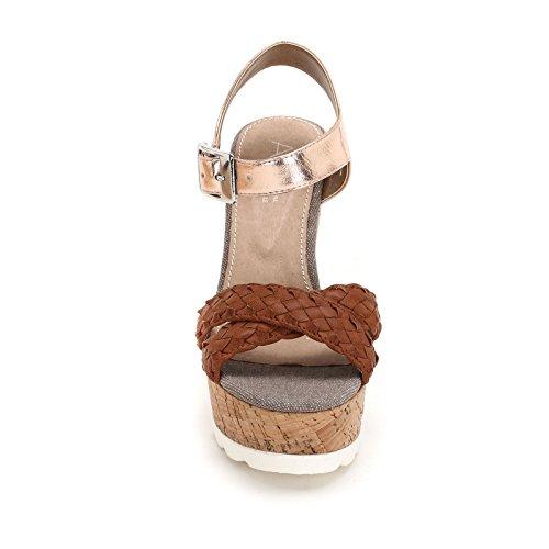 Sandales Laminés Détails Alesya Compensées Scarpe amp;scarpe Cuir Tressées Avec wxpp0TBqE