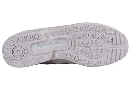 Scarpe Da Ginnastica Sintetiche Adidas Mens Zx Flux Bianche / Bianche / Bianche 6,5 M Us