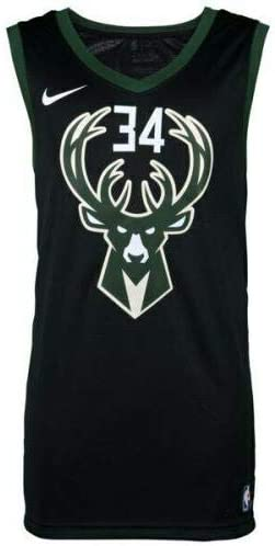 GIANNIS ANTETOKOUNMPO Bucks Autographed Black Statement Edition Jersey FANATICS - Autographed NBA Jerseys