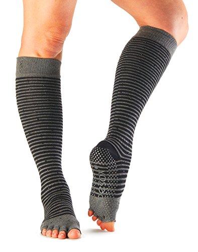 ToeSox Scrunch Women's Half Toe Grip Socks (Fling) Small