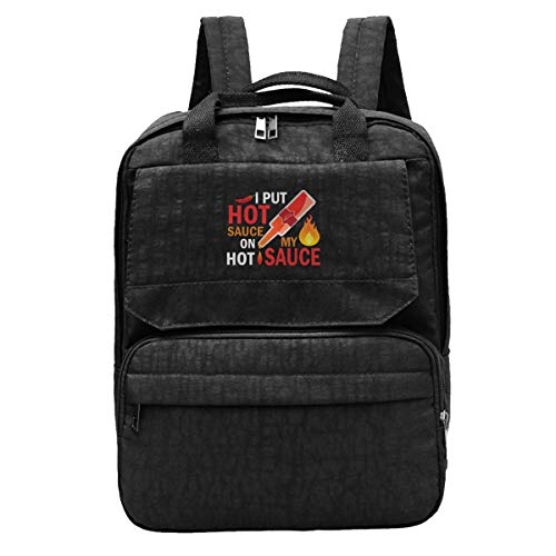 I Put Hot Sauce On My Hot Sauce Mens Travel Backpack Adjustable Shoulders Bags For Camping