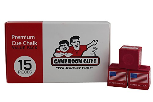 Game Room Guys Premium Red Pool Cue Chalk - 15 Piece